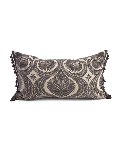 Made In USA 17x28 Burma Velvet Damask Pillow
