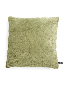 Made In India 20x20 Izmir Soft Chenille Pillow