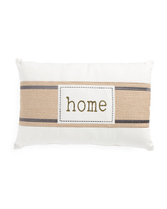14x22 Banded Home Pillow