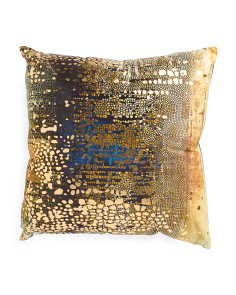 20x20 Contemporary Metallic Pillow