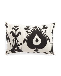 12x18 Embroidered Ikat Pillow
