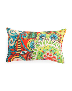 12x20 Embroidered Paisley Pillow
