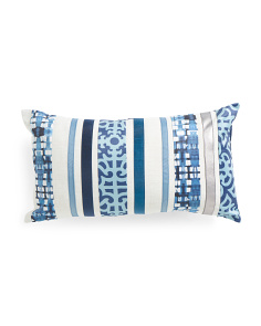 12x22 Multi Pattern Stripe Pillow