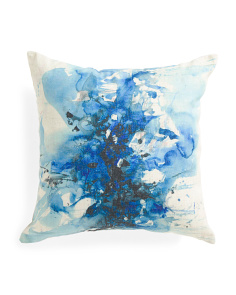 18x18 Contemporary Art Splatter Pillow