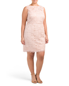 Plus Sleeveless Lace Sheath Dress