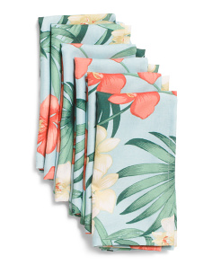 Set Of 6 Orchid Indoor Outdoor Napkins