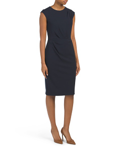 Cap Sleeve Scuba Crepe Dress
