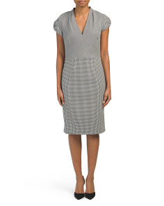 Checkered Sheath Dress