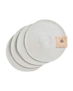 Made In India 4pk Round Placemats
