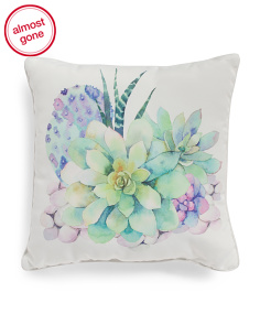 20x20 Indoor Outdoor Lotus Pillow