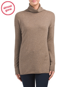 Mock Neck Pullover Cashmere Sweater