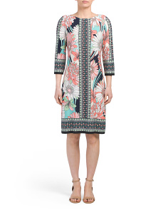 Petite Scarf Print Shift Dress