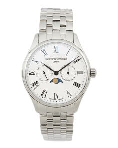 Men's Swiss Made Moonphase Bracelet Watch