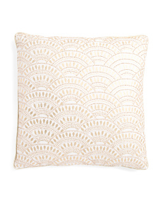 Made In India 18x18 Beaded Pillow