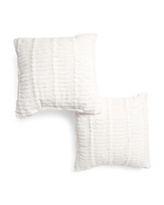 2pk 20x20 Ellie Faux Fur Pillow
