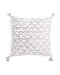 20x20 Binxie Medallion Tassel Pillow