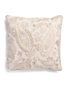 20x20 Embellished Paisley Pillow