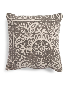 20x20 Made In India Vintage Print Pillow