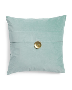 20x20 Velvet Button Pillow