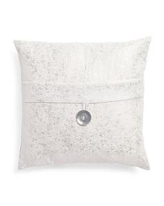 20x20 Zeus Metallic Button Pillow
