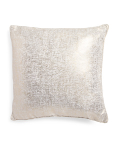24x24 Vesper Oversized Metallic Pillow