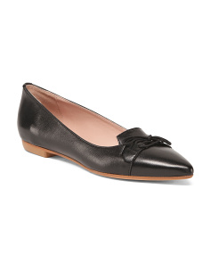 Made In Italy Pointy Toe Leather Flats