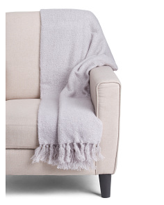 Knit Tassel Mohair Throw