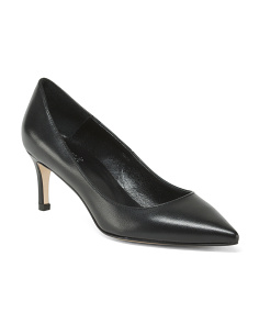 Made In Italy Pointy Toe Leather Pumps