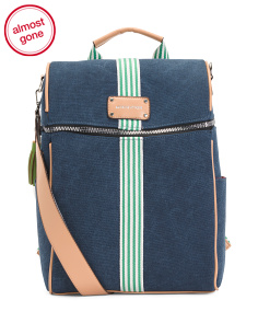Denim Backpack With Laptop Sleeve