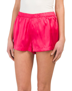 Silk Pajama Shorts