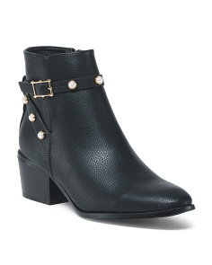 Block Heel Buckle Booties