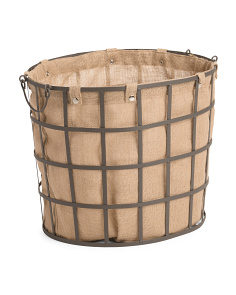 Large Industrial Metal Storage Basket