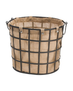 Lined Industrial Metal Storage Basket