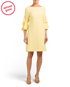 Lantern Sleeve Shift Dress