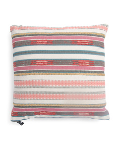 Made In India 20x20 Fiesta Stripe Pillow