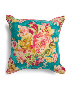 Made In USA 24x24 Vintage Floral Pillow