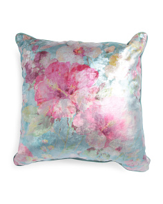 Made In USA 26x26 Dazzling Floral Pillow