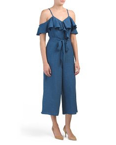 Chambray Gaucho Jumpsuit