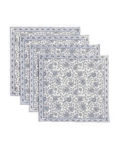 Made In India Set Of 4 Abigail Floral Placemats