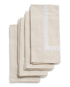 Made In India Set Of 4 Rosemary Napkins