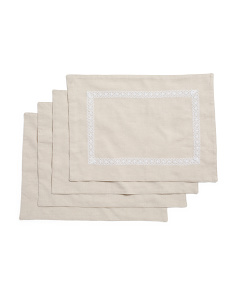 Made In India Set Of 4 Rosemary Placemats