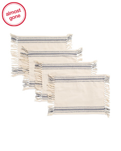 Made In India Set Of 4 Viviana Stripe Placemats