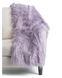 Kari Mongolian Faux Fur Throw