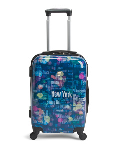 20in Printed Hardside Spinner Carry-on