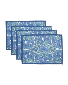 Made In India Set Of 4 Aria Paisley Placemats