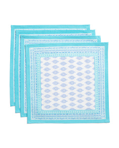 Made In India Set Of 4 Butti Print Placemats
