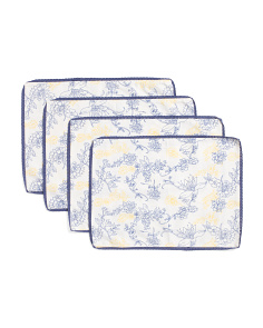 Made In India Set Of 4 Nella Floral Placemats
