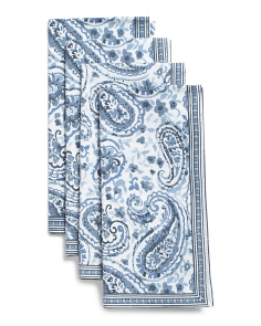 Made In India Set Of 4 Tonya Paisley Napkins