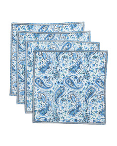 Made In India Set Of 4 Tonya Paisley Placemats