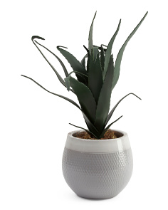 30in Medium Faux Aloe Plant In Pot